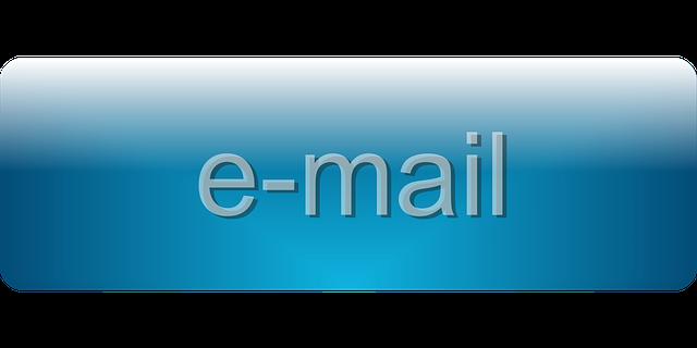 nápis e-mail