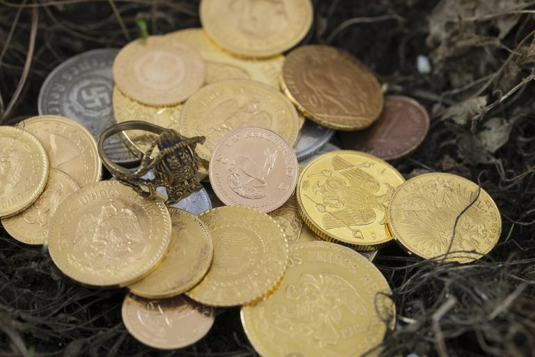 mince v trávě