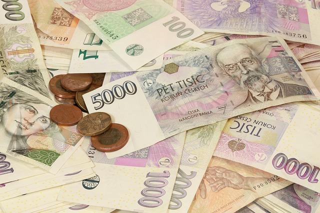 bankovky české koruny
